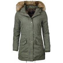 Mavi dámská zimní parka s kapucí khaki