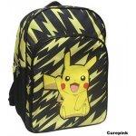 CurePink batoh Pokémon Pikachu 18,7 l černý [MC-222-PK]