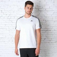 Adidas Mens Essential 3 Stripes T Shirt White
