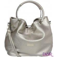 Grosso moderní dámská kabelka s kruhy S736 stříbrná 9823e96a300