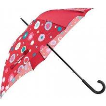 Deštník dámský Reisenthel varianta červený s barevným puntíkem