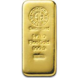 Argor Heraeus 1 kg. Zlatý slitek 1000g