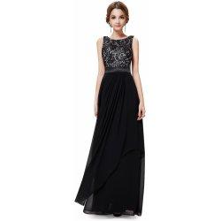 bda2a83a304 Ever Pretty večerní šaty ze saténu a krajky EP08217BK černá od 2 927 ...