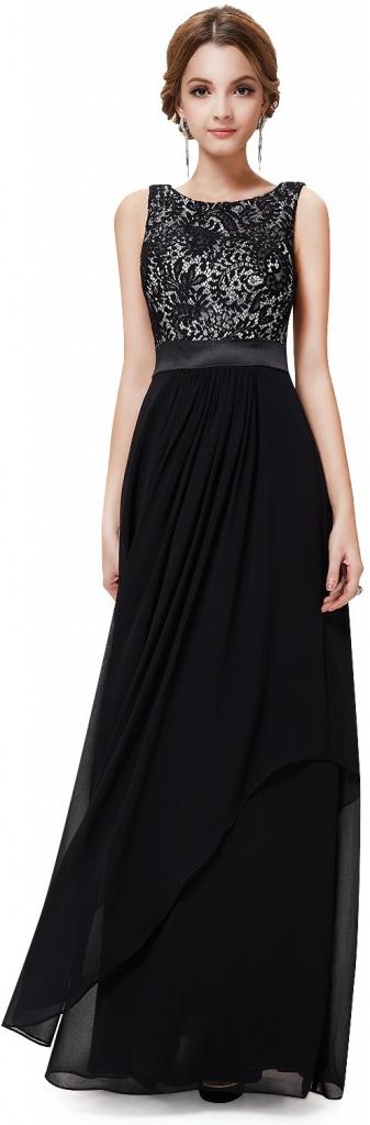 a189c4d5b74 Ever Pretty večerní šaty ze saténu a krajky EP08217BK černá od 2 927 Kč -  Heureka.cz