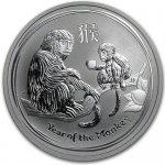 Lunární série II. stříbrná mince 0,5 AUD Year of the Monkey Rok opice 1 2oz 2016