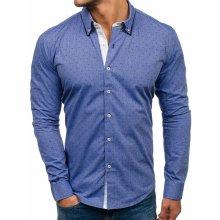 Bolf pánská elegantní košile s dlouhým rukávem 9658 tmavě modrá ed68f215f5