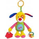 Baby Mix plyšová hračka s chrastítkem pes Žlutá