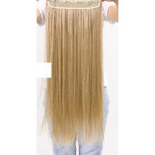 Rovný příčes Clip-in blond 65cm