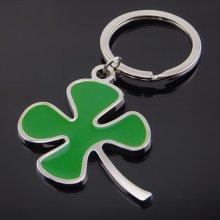 Přívěsek na klíče čtyřlístek (zelená)