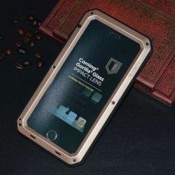 Pouzdro SES EXTRÉMNĚ odolné hliníkovo-silikonové obal Apple iPhone 6 6S -  zlaté 4b7740beef4