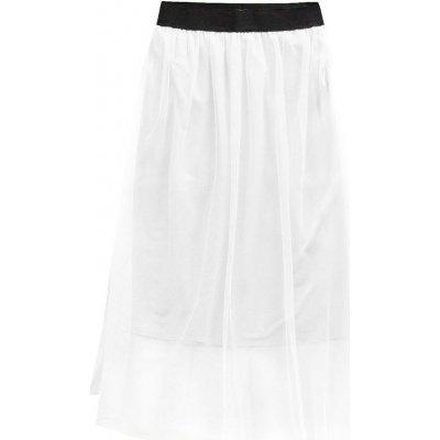Prodyšná sukně s délkou midi 96ART bílá