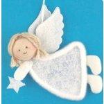 Anděl závěsný filcový - 12cm