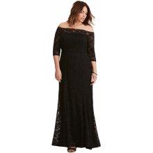 Společenské šaty pro plnoštíhlé krajkové dlouhé db6ba0f376