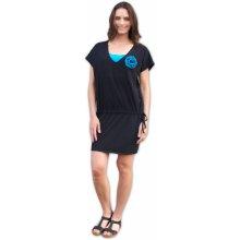 Jožánek kojící a těhotenské šaty černé s kytkou