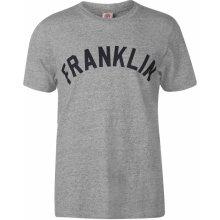 Franklin and Marshall Logo T Shirt Grey Marl