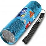 Euroswan Dětská hliníková LED baterka Hledá se Dory Azurová Alu 9x2,5 cm