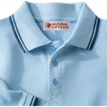 Blancheporte Polo tričko s dlouhými rukávy nebeská modrá