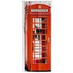 Petromila shrnovací dveře plastové plné s potiskem Telefonní budka 83 cm, 201,5 cm