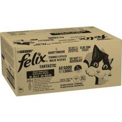 Felix Fantastic s hovězím kuřetem tuňákem treskou v želé 80 x 85 g