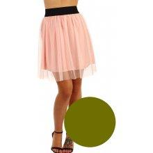 TopMode krátká dámská tylová sukně zelená 6f19e8789f