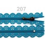Spirálový zip šíře 3 mm délka 16 cm krajkový 100ks - 8 Kč / ks 207 Tile Blue