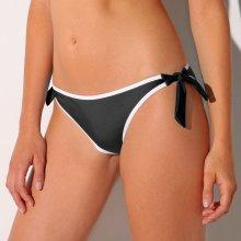 Blancheporte Kontrastní plavkové kalhotky na zavázání černá