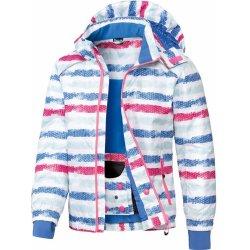 Dětská bunda a kabát Crivit Dívčí lyžařská bunda pruhy modrá růžová 9fa25858fa
