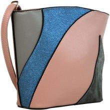 Sun-bags barevná crossbody kabelka F002 růžová