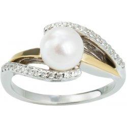 Klenota Zlatý prsten s perlou Akoya a diamanty 18K zlato kln5120 ... ca5357d93e1