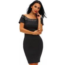 17d415c41c74 Pouzdrové šaty s krátkými rukávy a zdobeným výstřihem – 6048