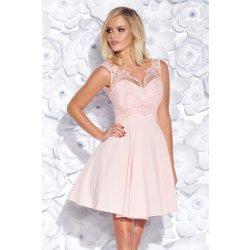 681608d8e398 Dámské koktejlové šaty s krajkovým živůtkem růžová od 1 699 Kč ...