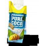 Pure Coco Kokosová voda s příchutí ananasu 330ml