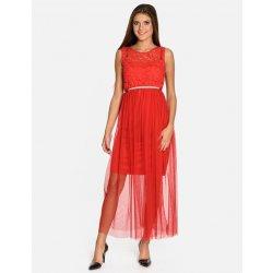 888545ce16c Calzanatta dámské společenské šaty s tylovou sukní 712046 červená ...
