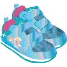 Disney Brand Dívčí svítící tenisky Frozen - modré 23864283720