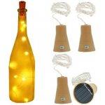 Solární světelná zátka 1metr/10LED teplá bílá