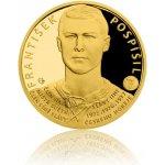 Česká mincovna Zlatá čtvrtuncová mince Legendy čs. hokeje František Pospíšil proof 7,78 g