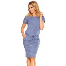 1c1d4f67d Numoco dámské šaty 139-6 džínovina světle modrá