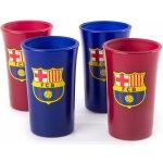 CurePink Sklenice štamprle FC Barcelona: Colored 4 kusy 40 ml
