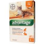 Advantage 40 10% pro kočky do 4kg 4x0,4ml