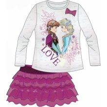 Disney by Arnetta dívčí set trička a skně Frozen růžovo šedá