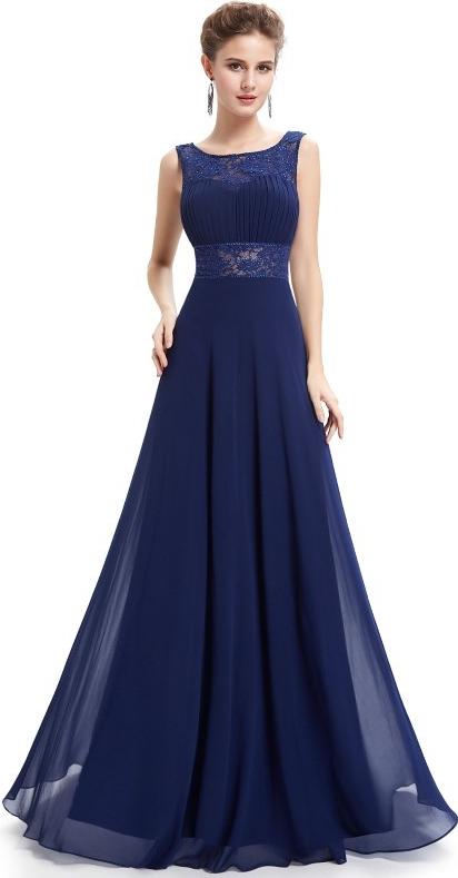 Plesové šaty Ever Pretty plesové šaty společenské 8741 modrá ... 2f4422524b