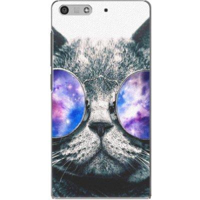 Pouzdro iSaprio Galaxy Cat Huawei Ascend P7 Mini