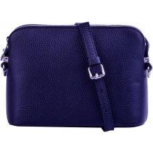 eb88eb8b74 Maxfly dámská kožená kabelka crossbody 5232 tmavě modrá