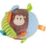 Bigjigs Toys textilní Chrastítko balónek - Opička