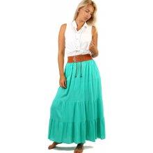 TopMode maxi sukně s ozdobným pasem 12SE86 zelená 523545375e