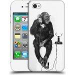 Pouzdro HEAD CASE Apple iPhone 4 a 4S OPIČÁK S TELEFONEM