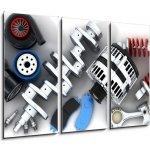 WEBLUX Obraz 3D třídílný - 105 x 70 cm - Car parts Autodíly