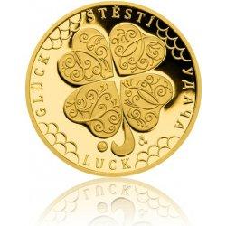 Česká mincovna Zlatý dukát Čtyřlístek pro štěstí s věnováním 3,49 g