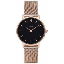 Cluse Minuit Mesh Rose Gold/ Black