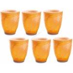 Carlo Giannini ICE COLOURS Sklenice oranžová 6 ks 280 ml